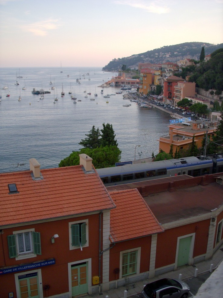 Villefranche from the train station