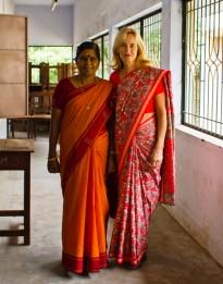MK & Teacher at a Workshop in Madurai, South India