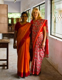 MK & Teacher at a Workshop in Madurai, South India