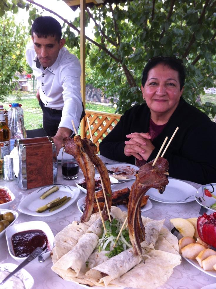 Firengiz with Lamb Kebabs